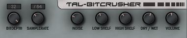 audio vst plugin tal-bitcrusher