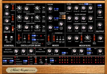 Free VST Synth Minimogue luxus